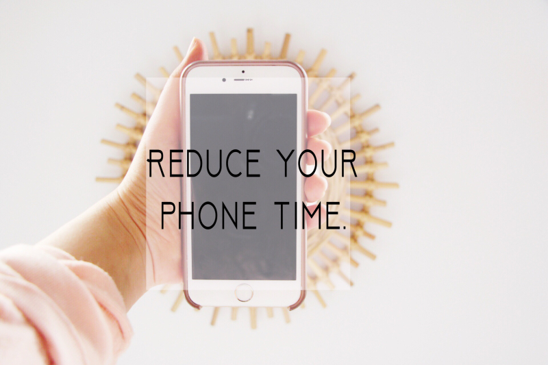 Reduce your phone time